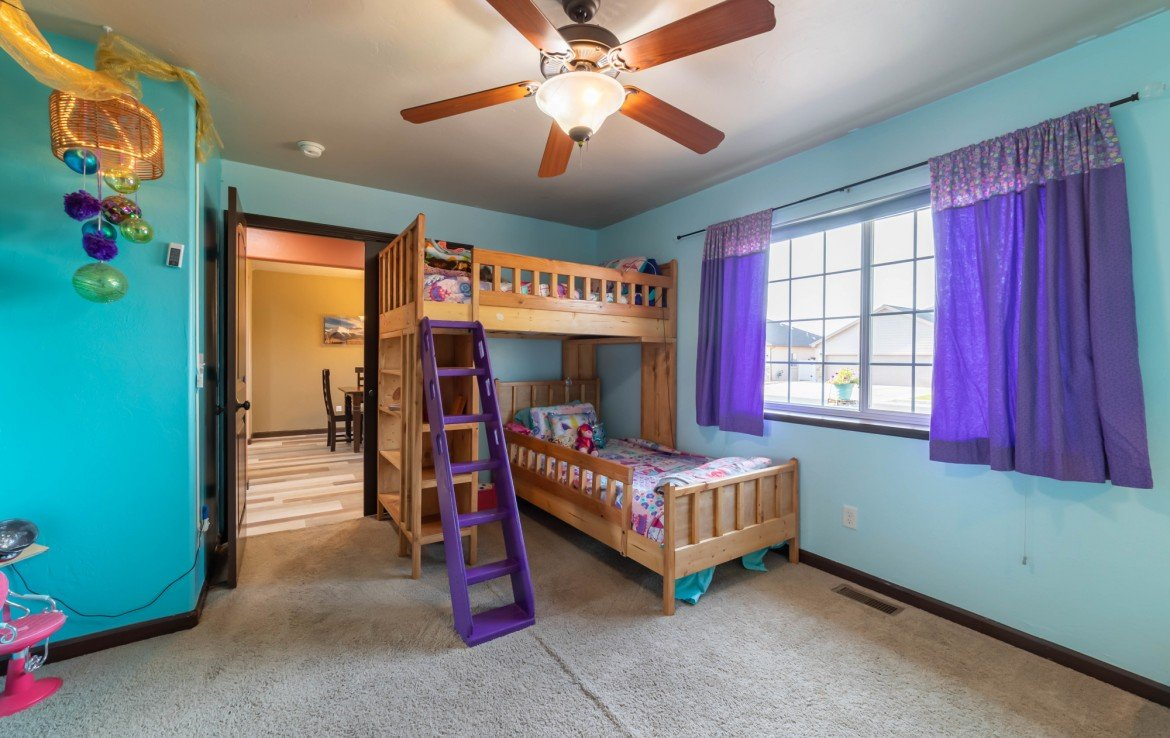 Bedroom with Carpeting - 1300 Gold Creek Montrose, CO 81403 - Atha Team Property for Sale