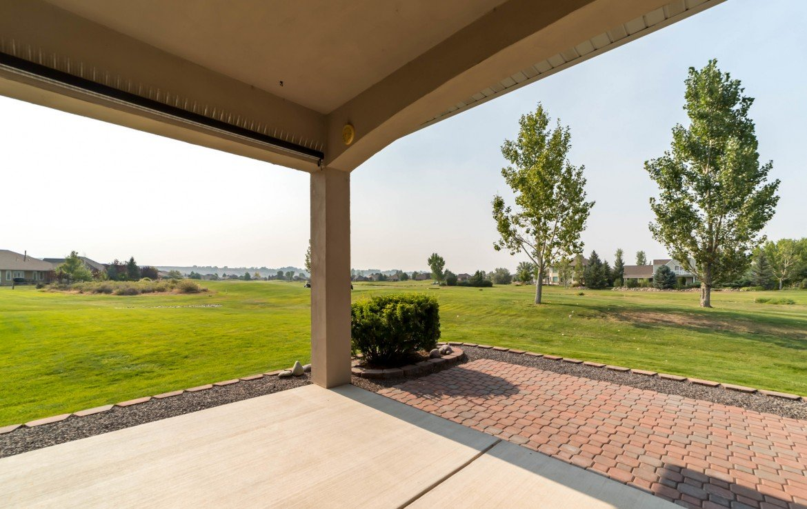 Covered Back Patio - 641 Badger Ct Montrose, CO 81403 - Atha Team Realty