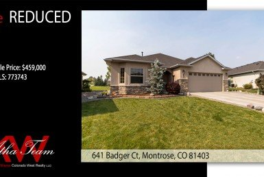 PRICE REDUCED Cobble Creek Lock and Leave Patio Home - 641 Badger Ct Montrose, CO 81403 - Atha Team Realty