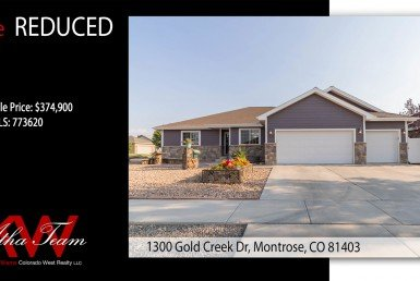 PRICE REDUCED - Waterfall Canyon Home for Sale - 1300 Gold Creek Dr Montrose, CO 81403 - Atha Team Real Estate