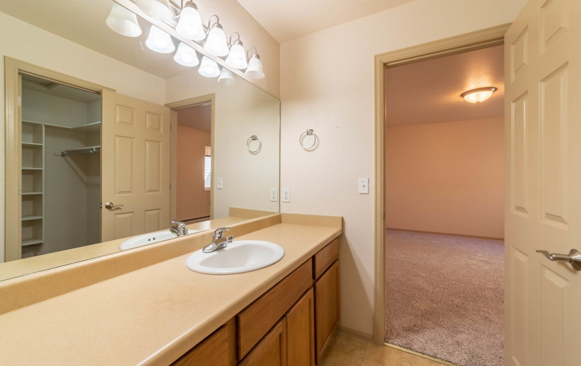 Master Bath with Vanity- 1314 Bighorn St Montrose, CO 81401 - Atha Team Residential Real Estate