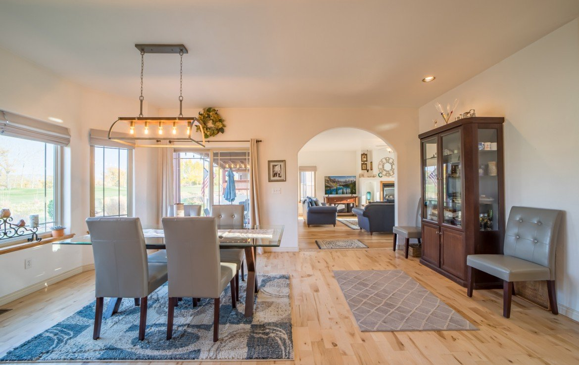 Dining Leading to Living Area - 3865 Grand Mesa Dr Montrose, CO 81403 - Atha Team Realty