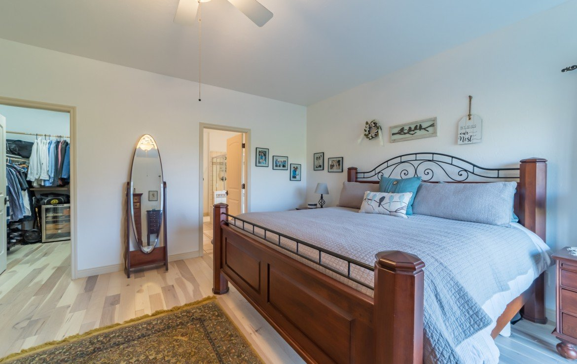 Master Bedroom with Hardwood Flooring - 3865 Grand Mesa Dr Montrose, CO 81403 - Atha Team Realty