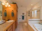 Master Bathroom with Tiled Flooring - 3865 Grand Mesa Dr Montrose, CO 81403 - Atha Team Realty