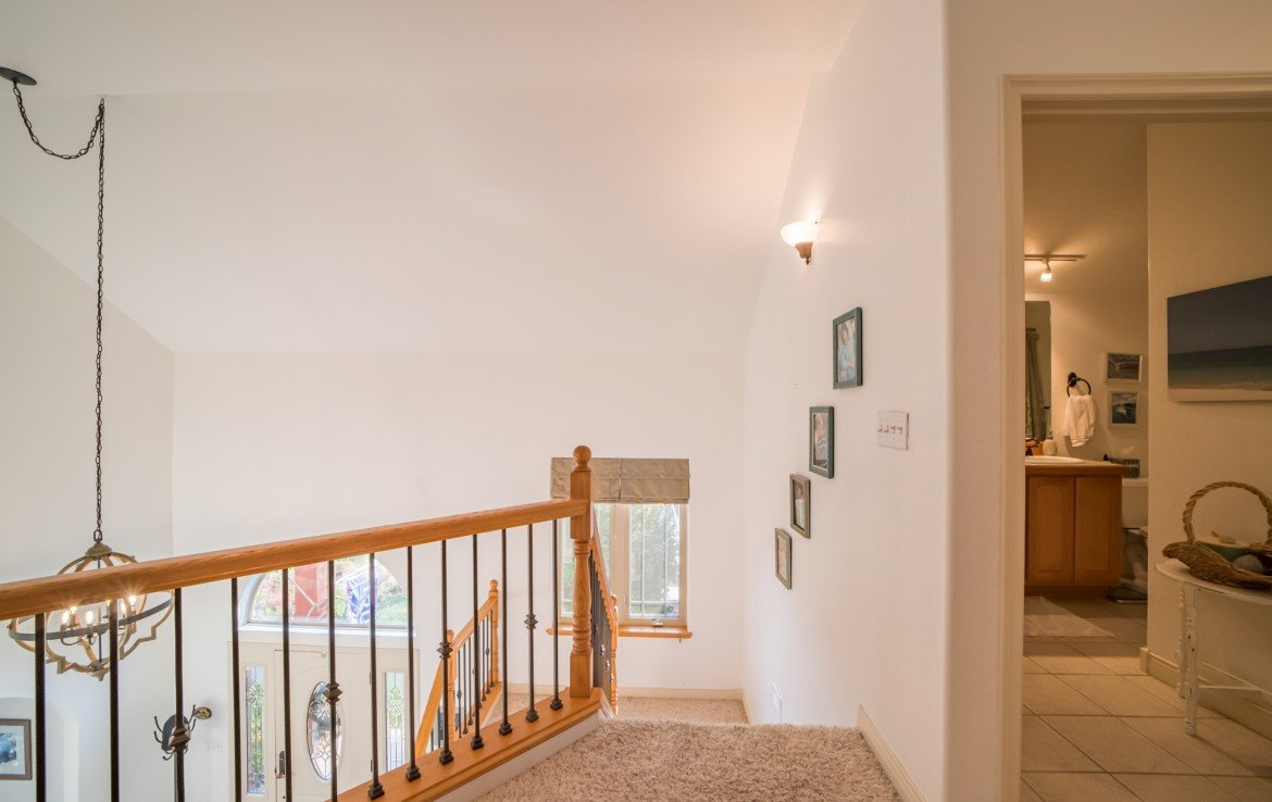 Upstairs Hallway and Staircase - 3865 Grand Mesa Dr Montrose, CO 81403 - Atha Team Realty