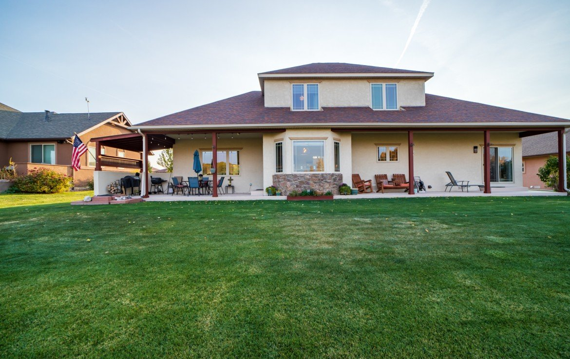 Rear View of Home - 3865 Grand Mesa Dr Montrose, CO 81403 - Atha Team Realty