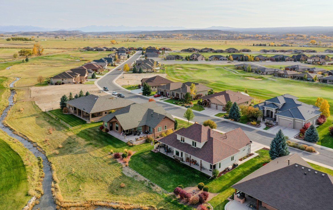 Aerial View of Rear Property with Mountain Views - 3865 Grand Mesa Dr Montrose, CO 81403 - Atha Team Realty