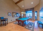 Game Room with Pool Table and Vaulted Ceiling - 2839 Sleeping Bear Rd Montrose, CO 81401 - Atha Team Luxury Real Estate