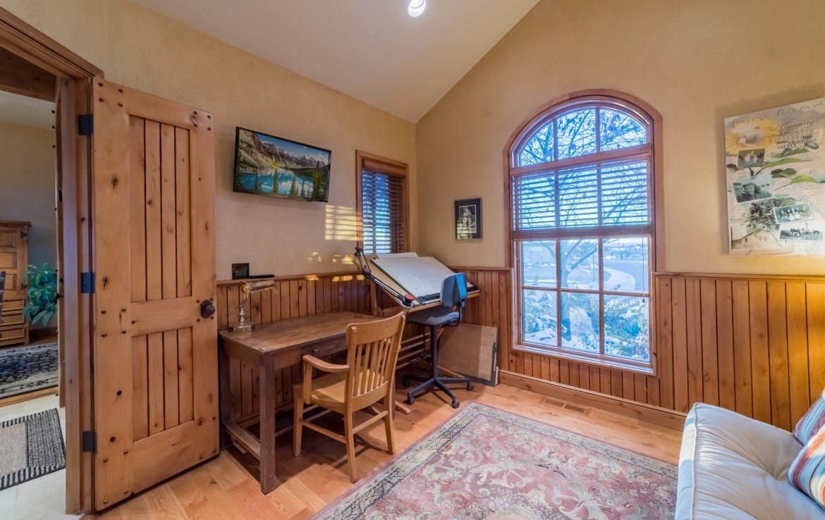 Office/Den with Vaulted Ceiling - 2839 Sleeping Bear Rd Montrose, CO 81401 - Atha Team Luxury Real Estate