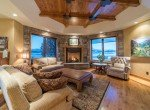 Living Room with Stone Natural Gas Fireplace - 2839 Sleeping Bear Rd Montrose, CO 81401 - Atha Team Luxury Real Estate