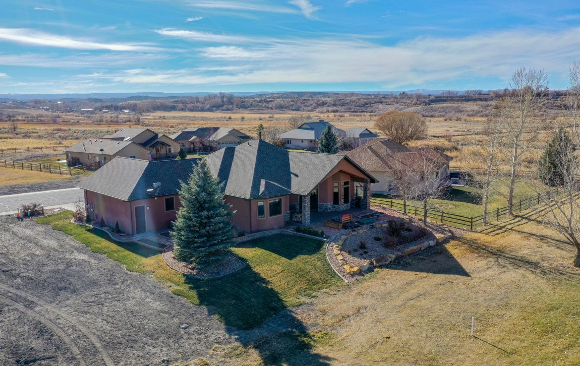 Aerial View of Rear of Home - 491 Collins Way Montrose, CO 81403 - Atha Team Listing