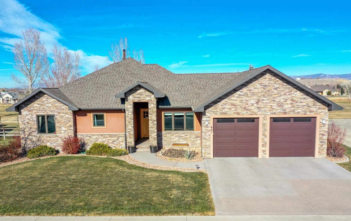 Aerial View Front of Home - 491 Collins Way Montrose, CO 81403 - Atha Team Listing