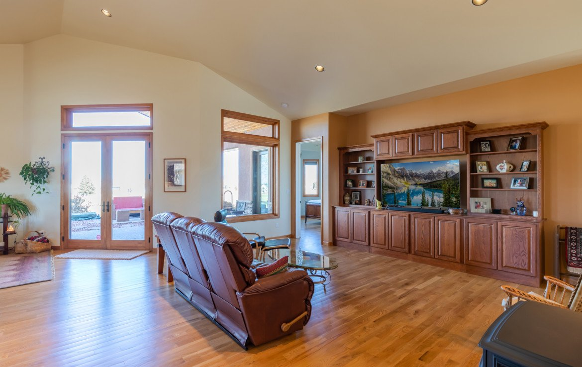 Living Room with Built-Ins - 491 Collins Way Montrose, CO 81403 - Atha Team Listing