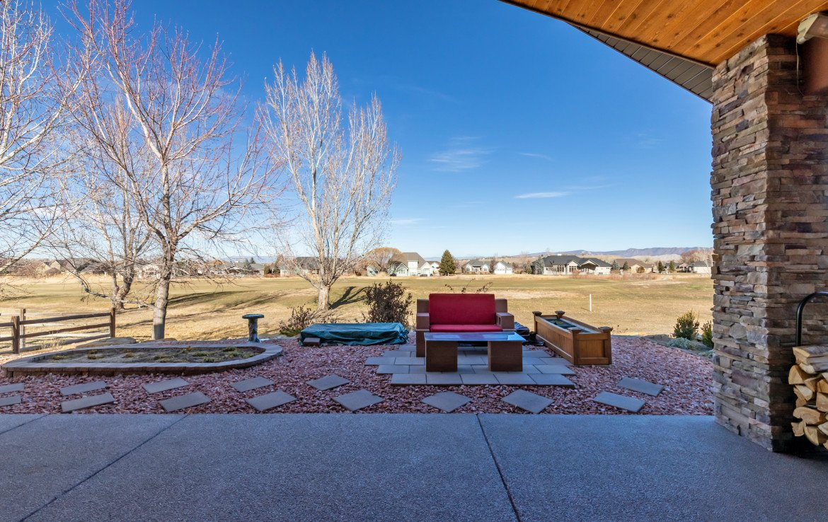 Covered Patio with Landscaping - 491 Collins Way Montrose, CO 81403 - Atha Team Listing