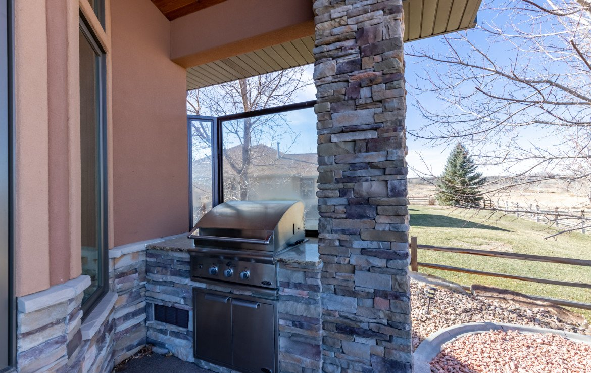Back Patio with Built In Grill - 491 Collins Way Montrose, CO 81403 - Atha Team Listing