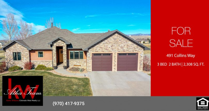 Cobble Creek Home for Sale - 491 Collins Way Montrose, CO 81403 - Atha Team Listing