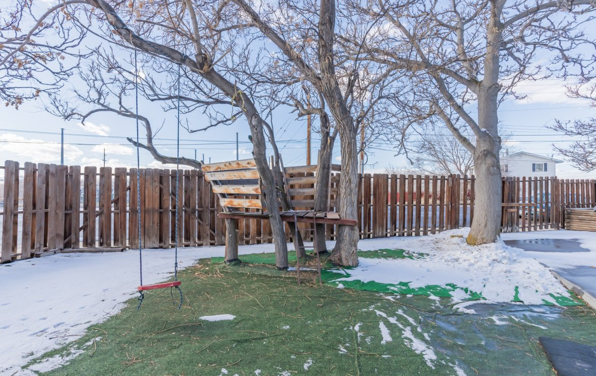 Mature Trees in Back Yard - 54 W. South 3rd St Montrose, CO 81401 - Atha Team Real Estate Listing