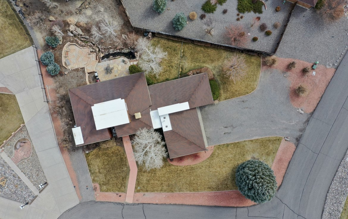 Aerial View of Property for Sale - 1690 Solar Ct Montrose, CO 81401 - Atha Team Residential Real Estate