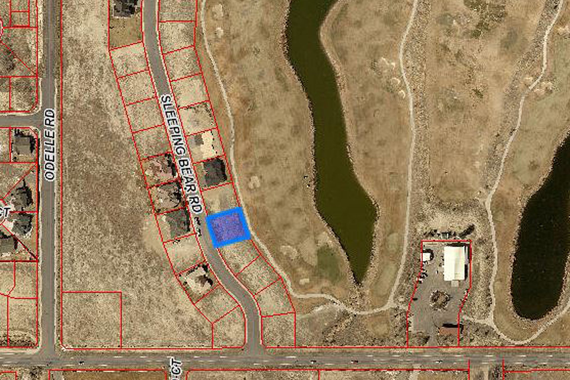 Aerial View of Lot 1935 Sleeping Bear Rd Montrose, CO - Atha Team Real Estate
