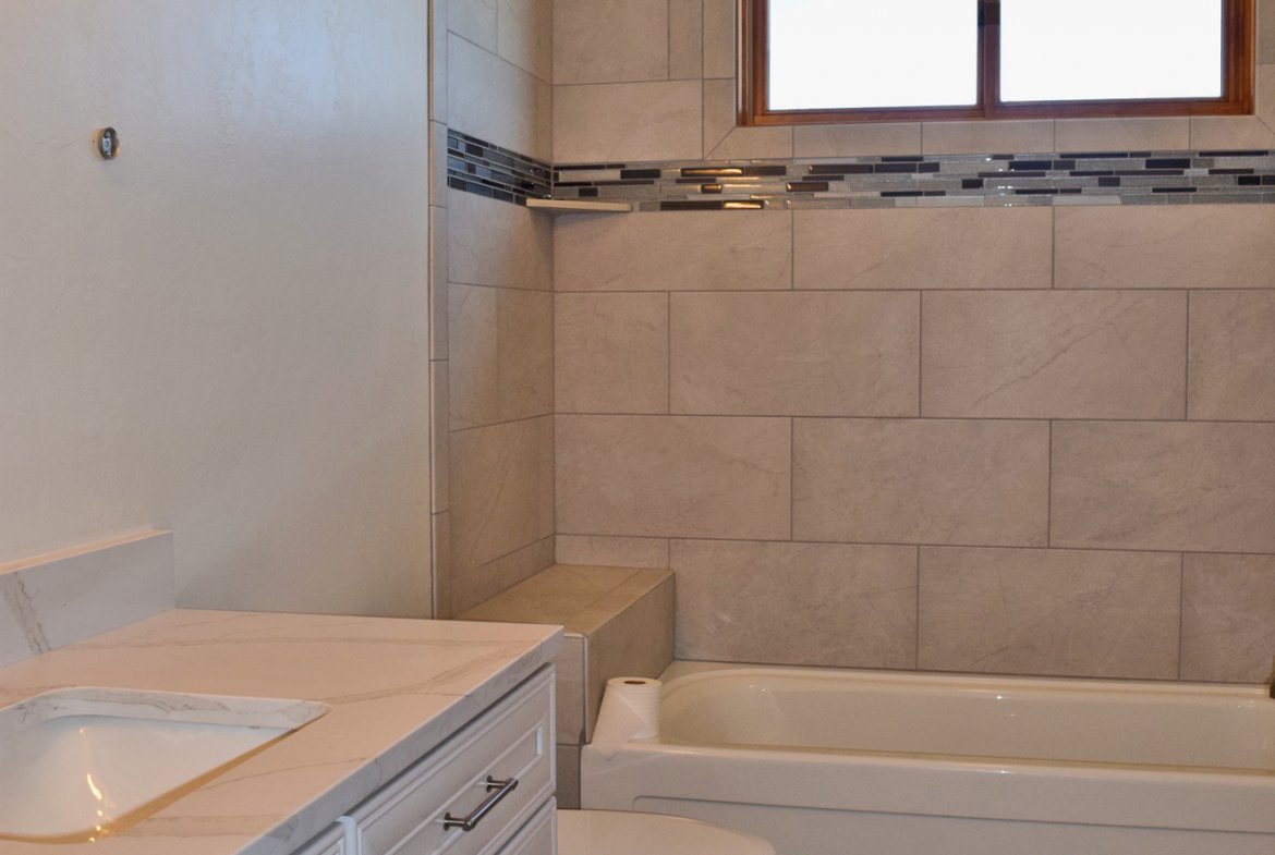 Bathroom with Tiled Shower - Lot-1935-Sleeping-Bear-Rd - Atha Team Residential Real Estate