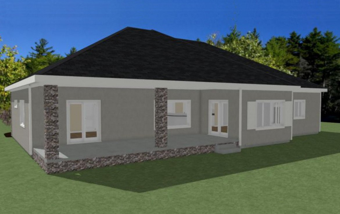 Rear View 3D Rendering - Lot 1935 Sleeping Bear Rd Montrose, CO - Atha Team Real Estate