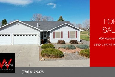 3 Bedroom 2 Bath Montrose Home for Sale - 609 Heather Lane Montrose, CO 81401 - Atha Team Residential Real Estate