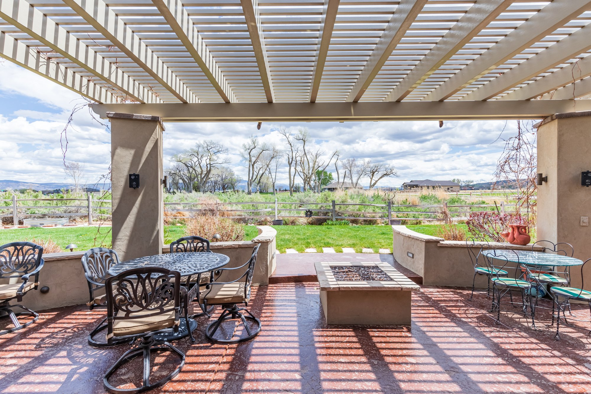 Pergola Covered Back Patio - 640 Badger Court Montrose, CO 81403 - Atha Team Real Estate Agents