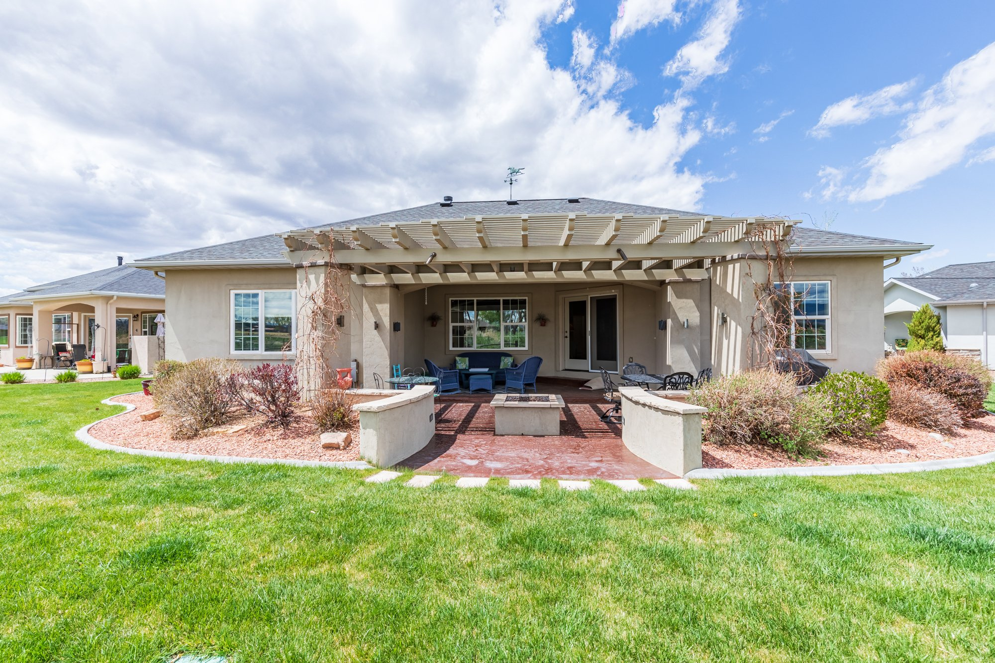 Covered Back Patio - 640 Badger Court Montrose, CO 81403 - Atha Team Real Estate Agents