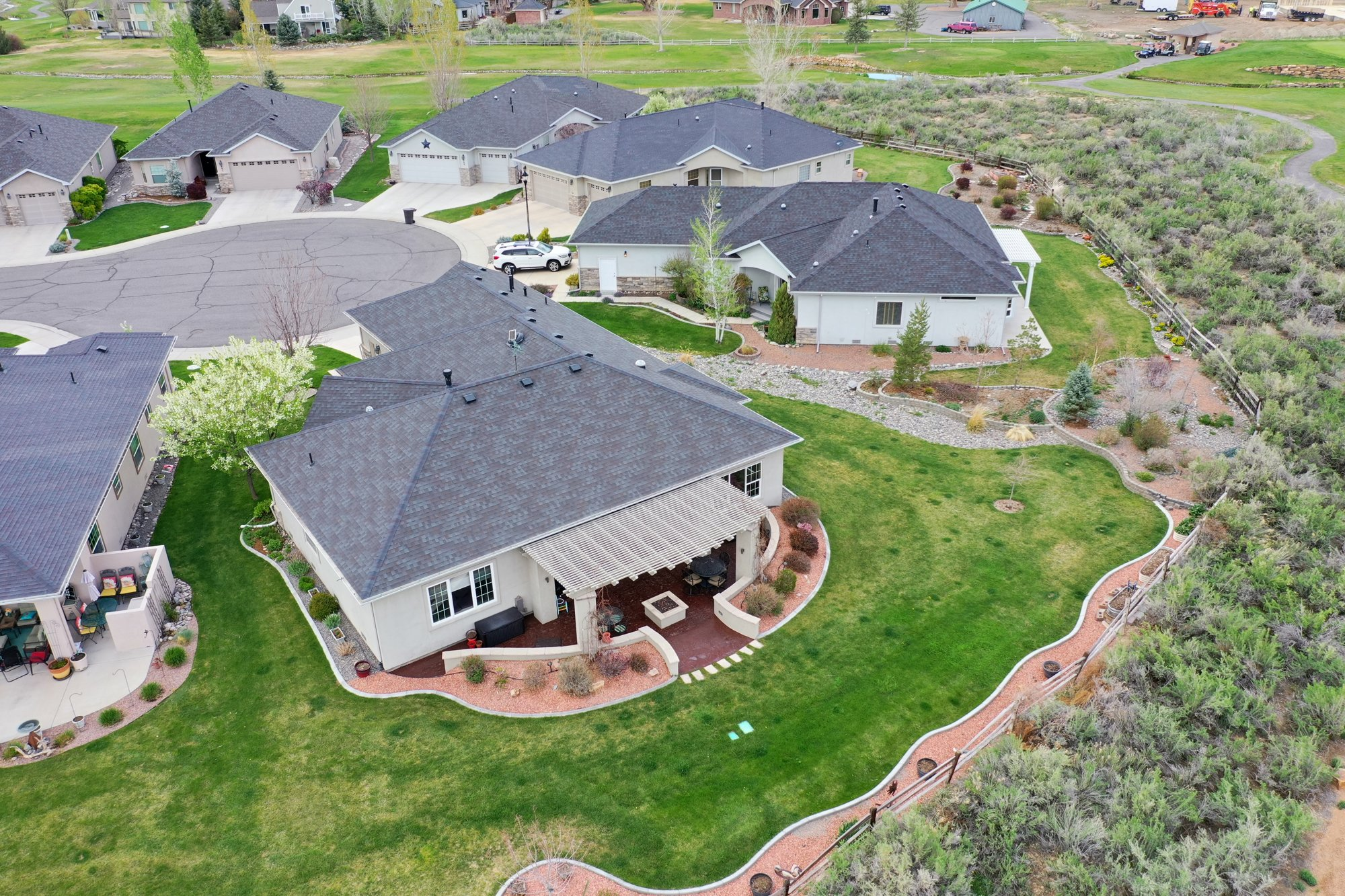 Aerial View of Back of the Property - 640 Badger Court Montrose, CO 81403 - Atha Team Real Estate Agents