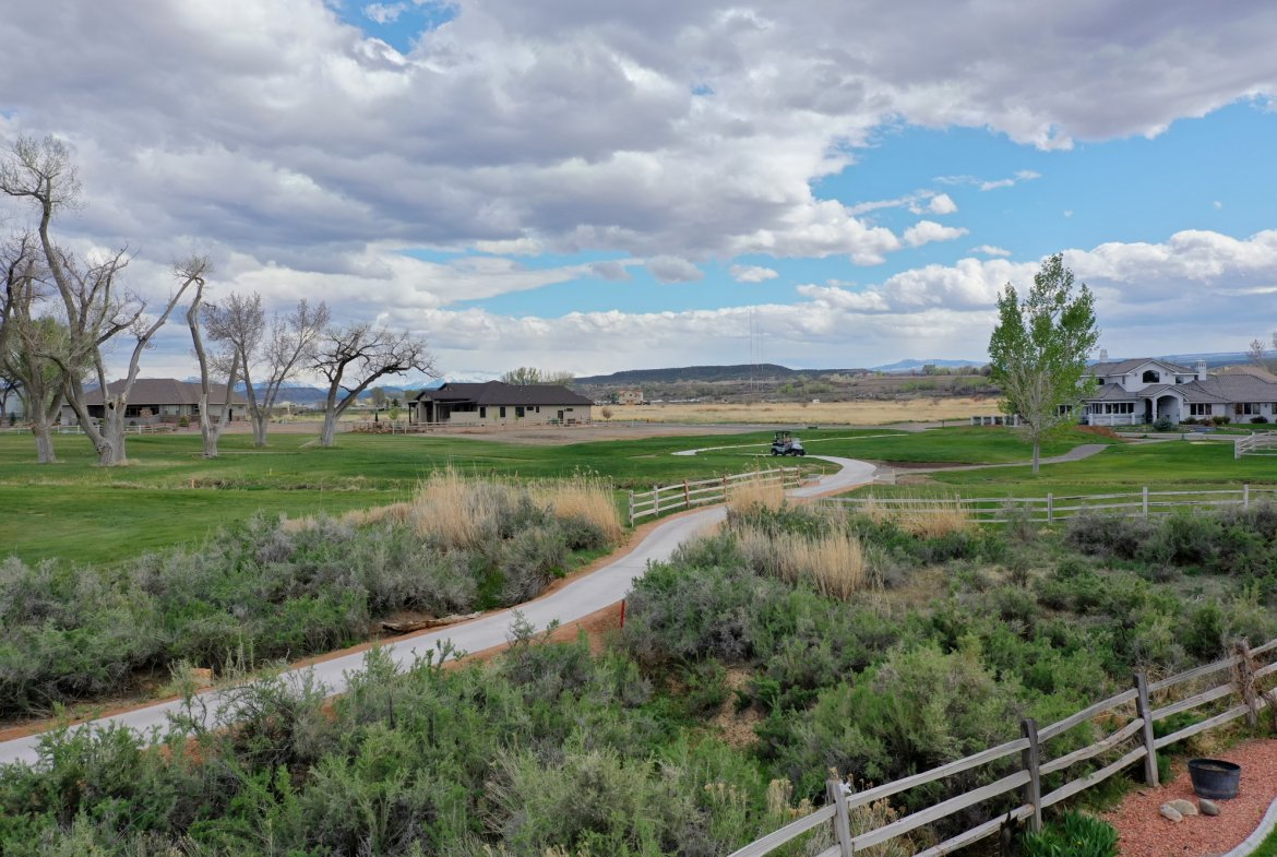 Back Yard to Walking Path and Golf Course - 640 Badger Court Montrose, CO 81403 - Atha Team Real Estate Agents