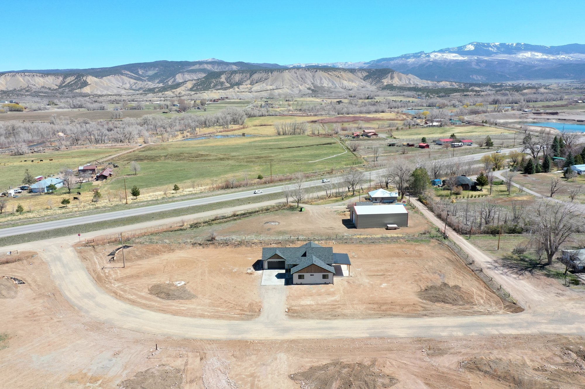 Front Aerial View East Facing - TBD Highway 550 Montrose, CO 81403 - Atha Team New Construction Real Estate