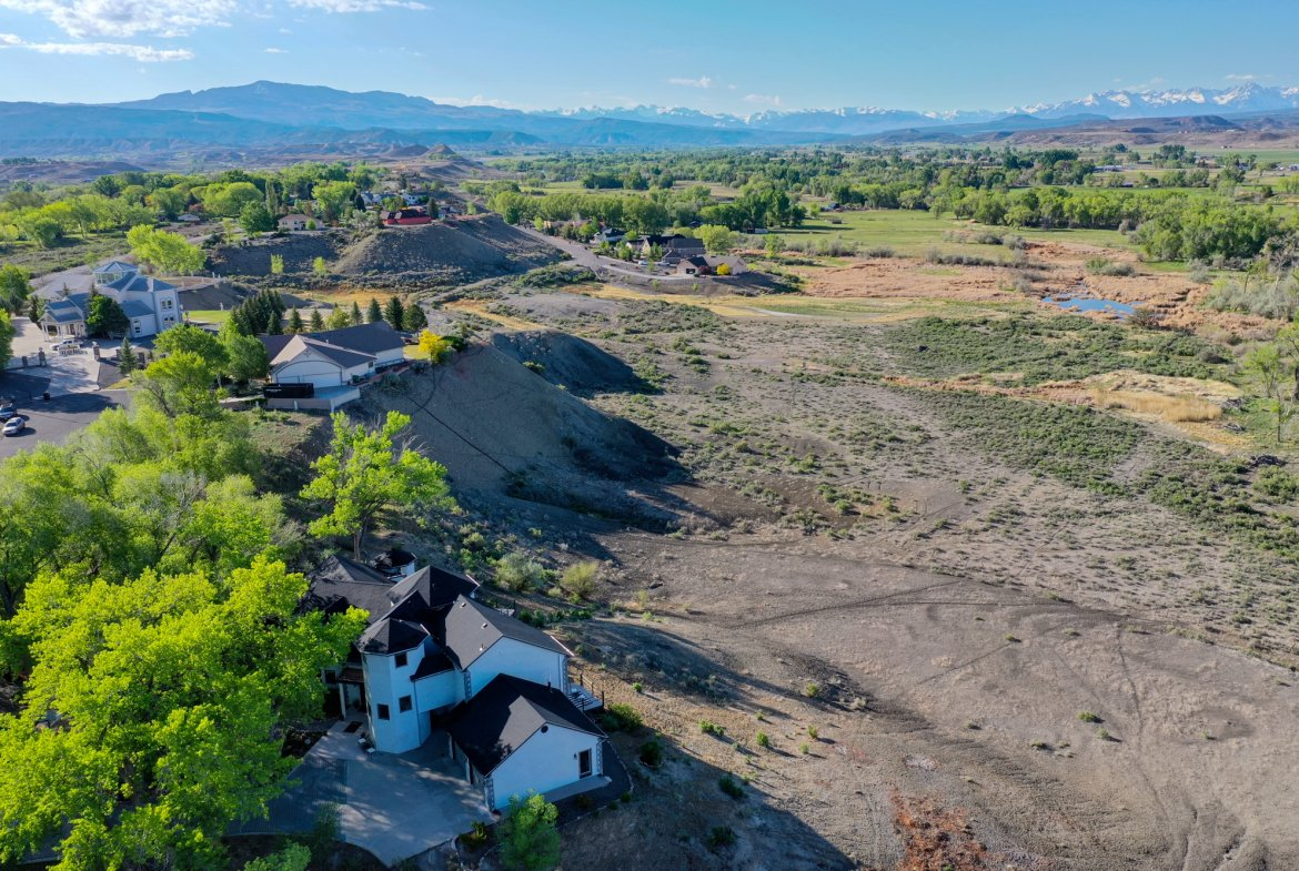 Aerial View of Home and Views - 16955 Wildwood Dr. Montrose, CO 81403 - Atha Team Luxury Real Estate