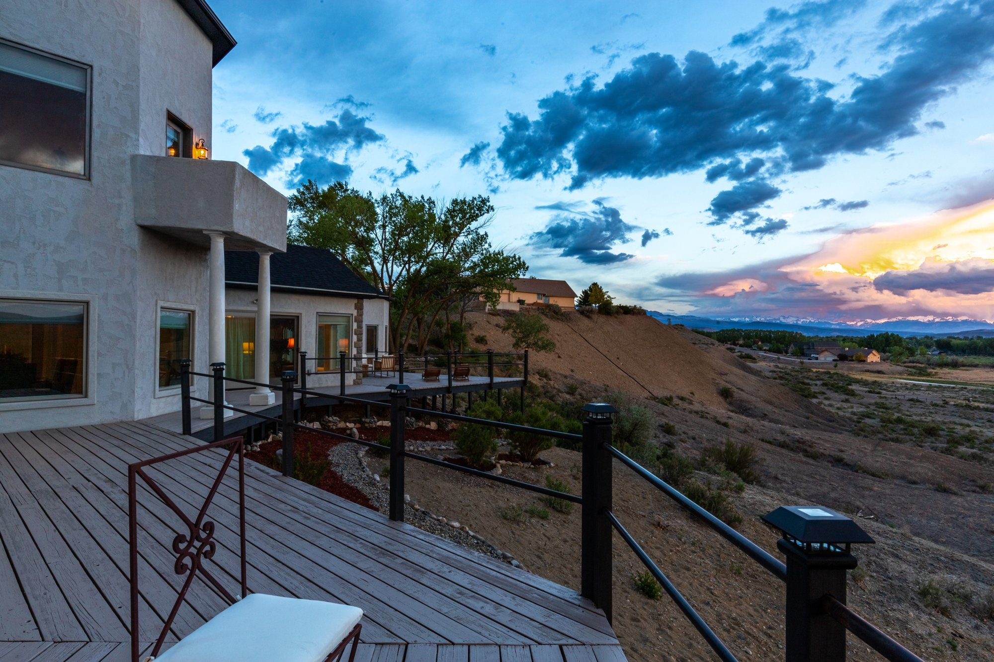 Sunset Views From Deck - 16955 Wildwood Dr. Montrose, CO 81403 - Atha Team Luxury Real Estate
