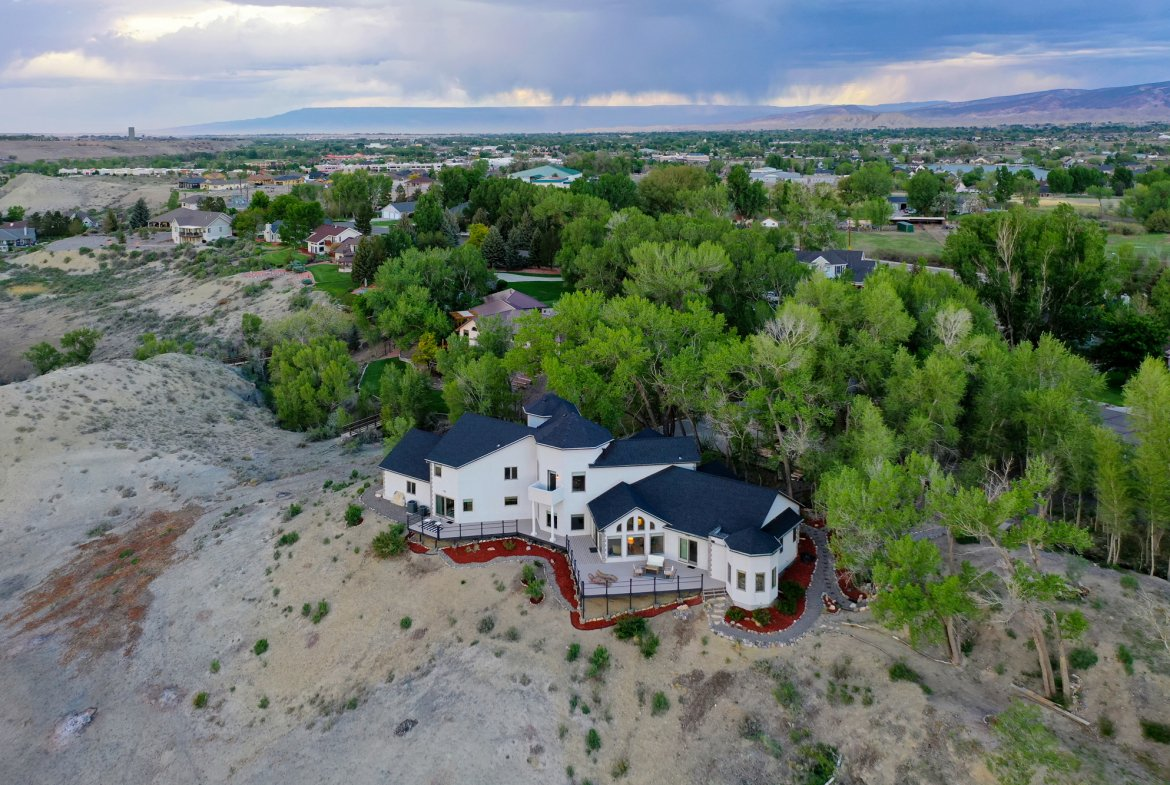 Aerial View of Home Facing North - 16955 Wildwood Dr. Montrose, CO 81403 - Atha Team Luxury Real Estate