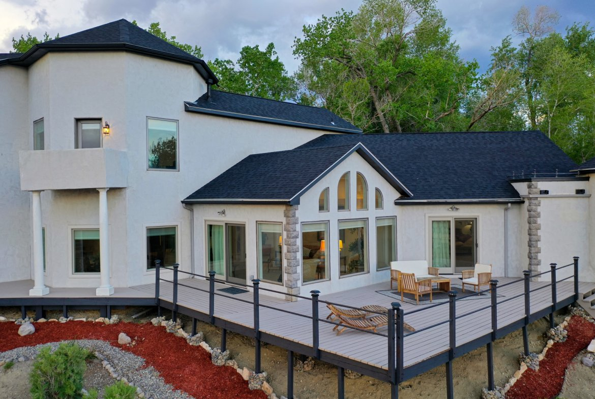 Deck with Custom Railings - 16955 Wildwood Dr. Montrose, CO 81403 - Atha Team Luxury Real Estate