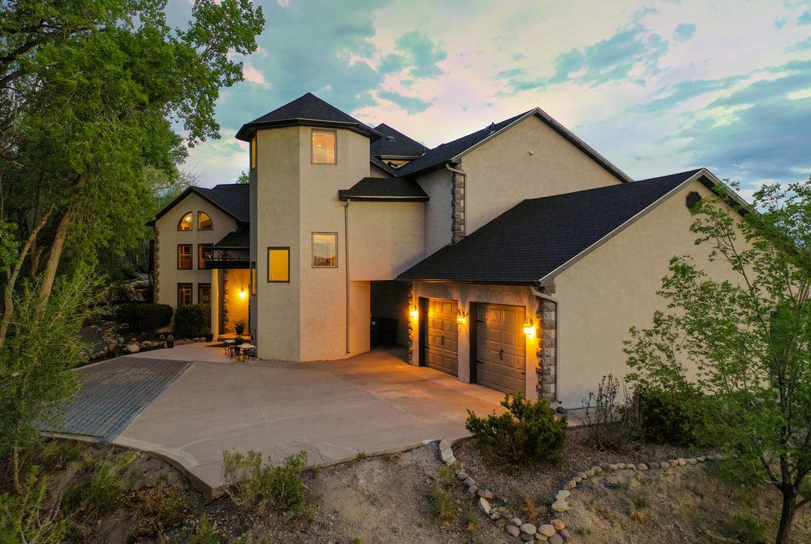 2 Car Garage and Parking Area - 16955 Wildwood Dr. Montrose, CO 81403 - Atha Team Luxury Real Estate