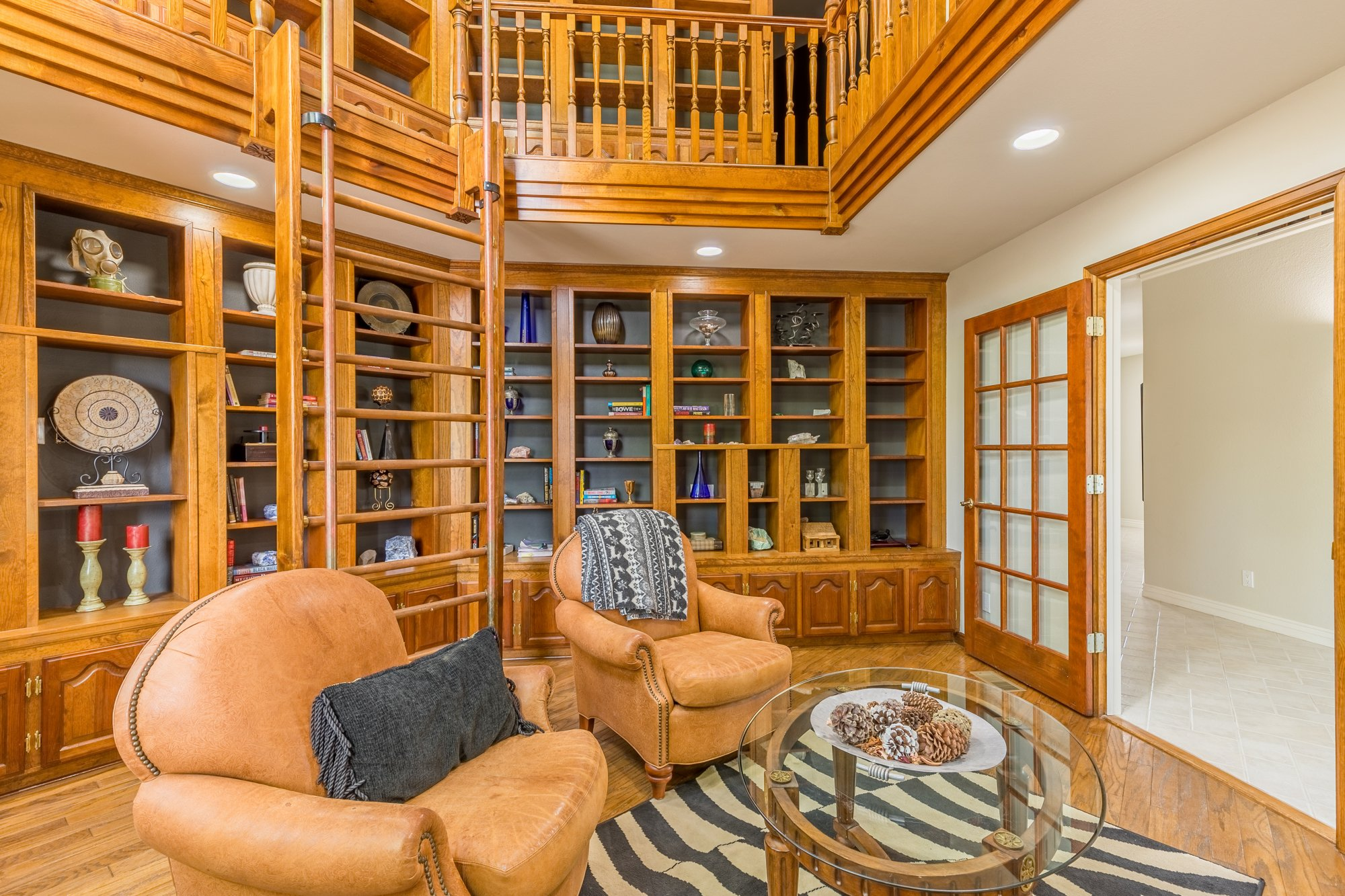 Library with Built-Ins - 16955 Wildwood Dr. Montrose, CO 81403 - Atha Team Luxury Real Estate