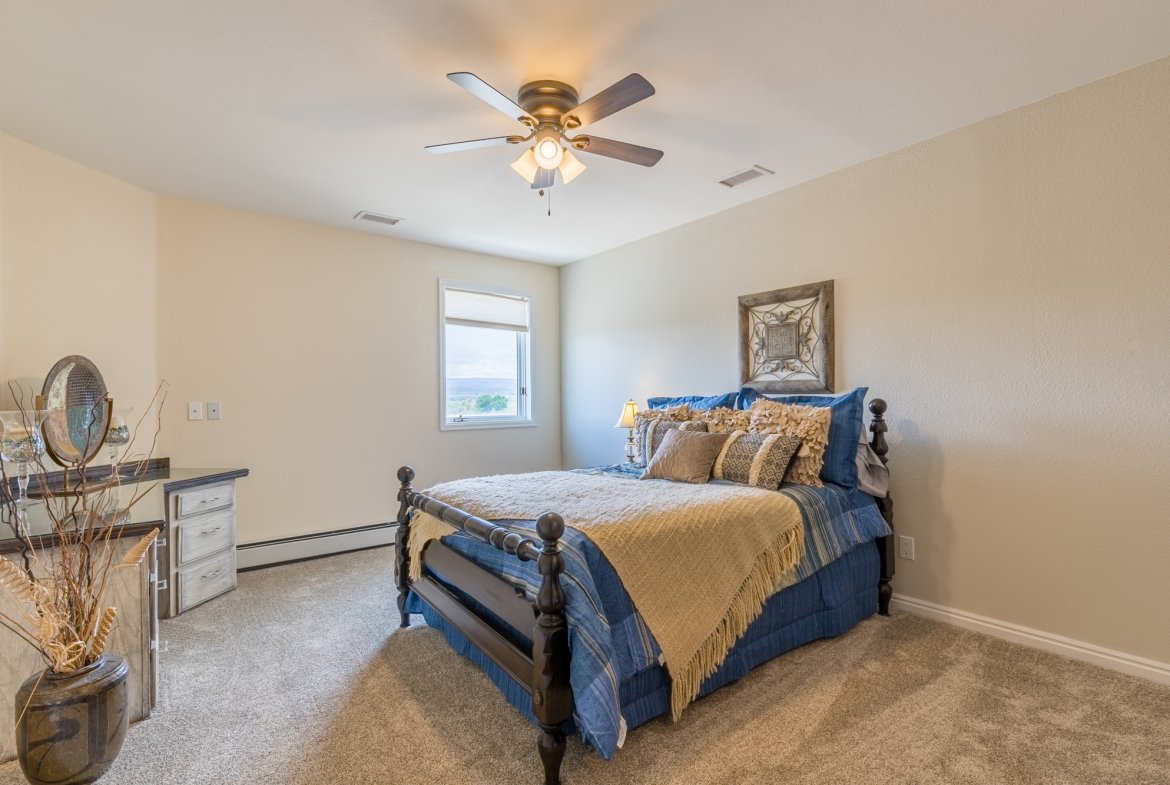 Bedroom with Ceiling Fan - 16955 Wildwood Dr. Montrose, CO 81403 - Atha Team Luxury Real Estate