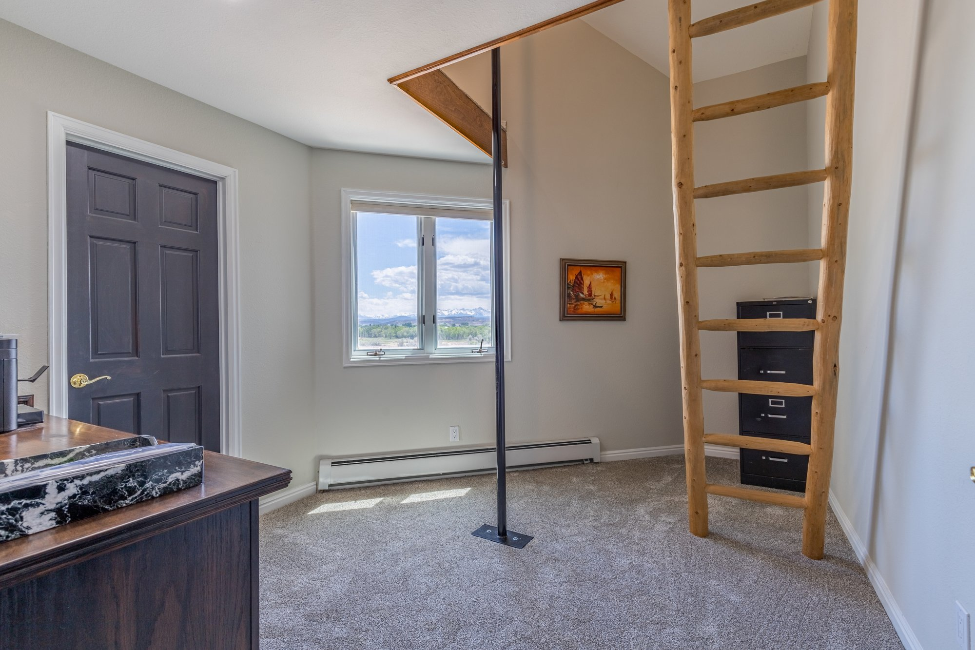 Bedroom with Loft and Ladder - 16955 Wildwood Dr. Montrose, CO 81403 - Atha Team Luxury Real Estate