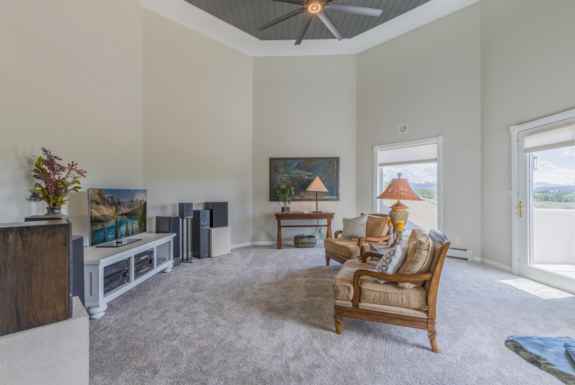 Media Room with High Ceiling - 16955 Wildwood Dr. Montrose, CO 81403 - Atha Team Luxury Real Estate
