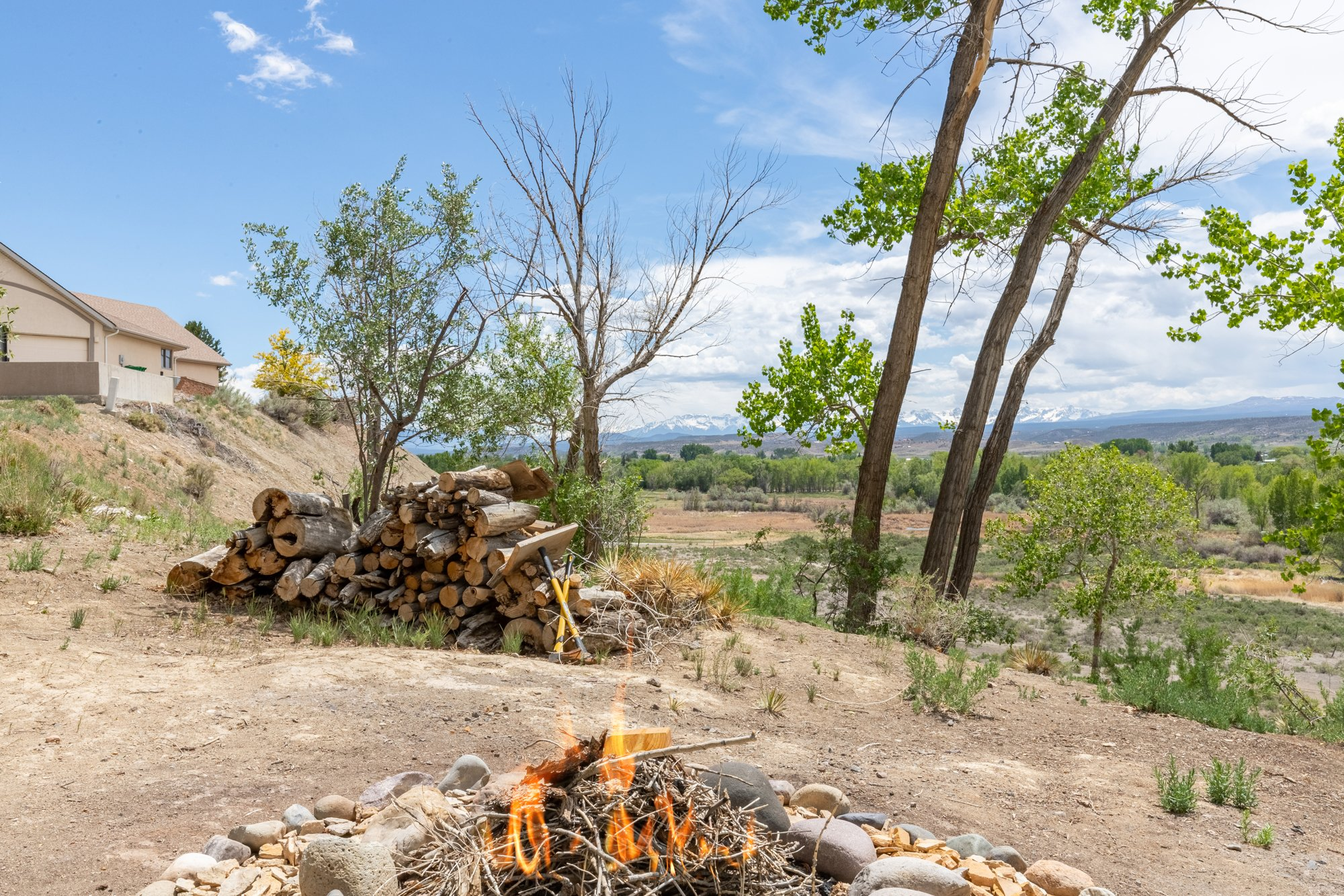 Outdoor Firepit and with Mountain Views - 16955 Wildwood Dr. Montrose, CO 81403 - Atha Team Luxury Real Estate