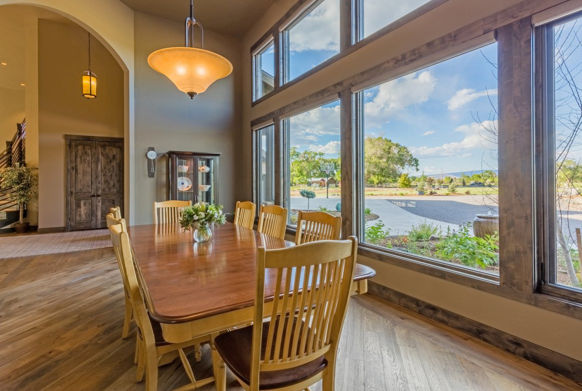 Dining Room Views - 15067 6140 Ln Montrose, CO 81403 - Atha Team Luxury Real Estate