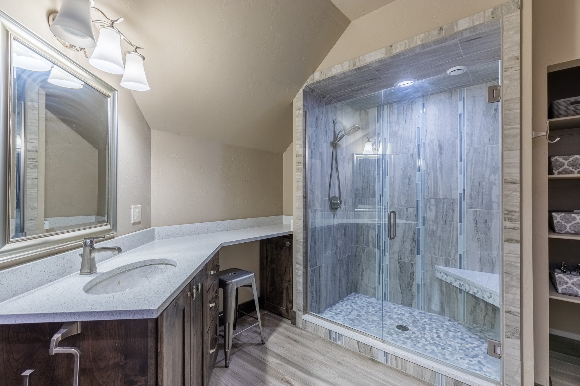 Bathroom with Counter Seating - 15067 6140 Ln Montrose, CO 81403 - Atha Team Luxury Real Estate