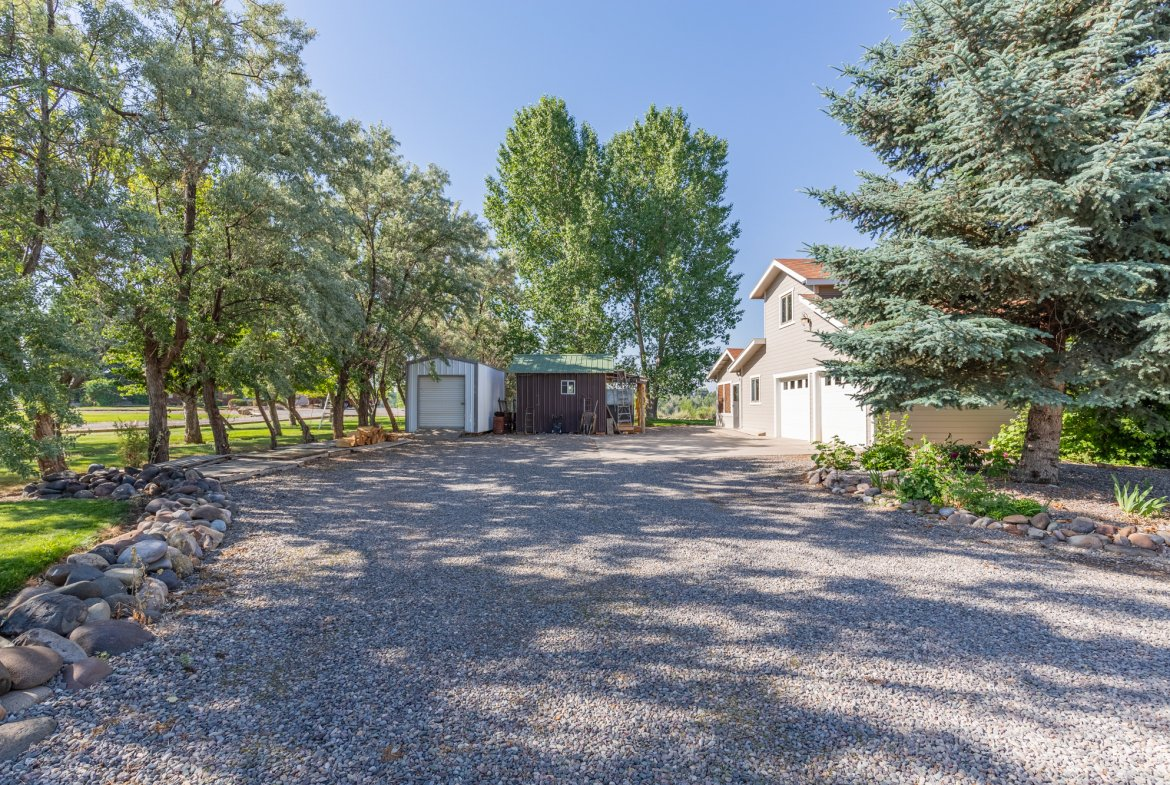 Attached 2 Car Garage and Shed - 17777 6650 Rd Montrose, CO 81403 - Atha Team Country Real Estate