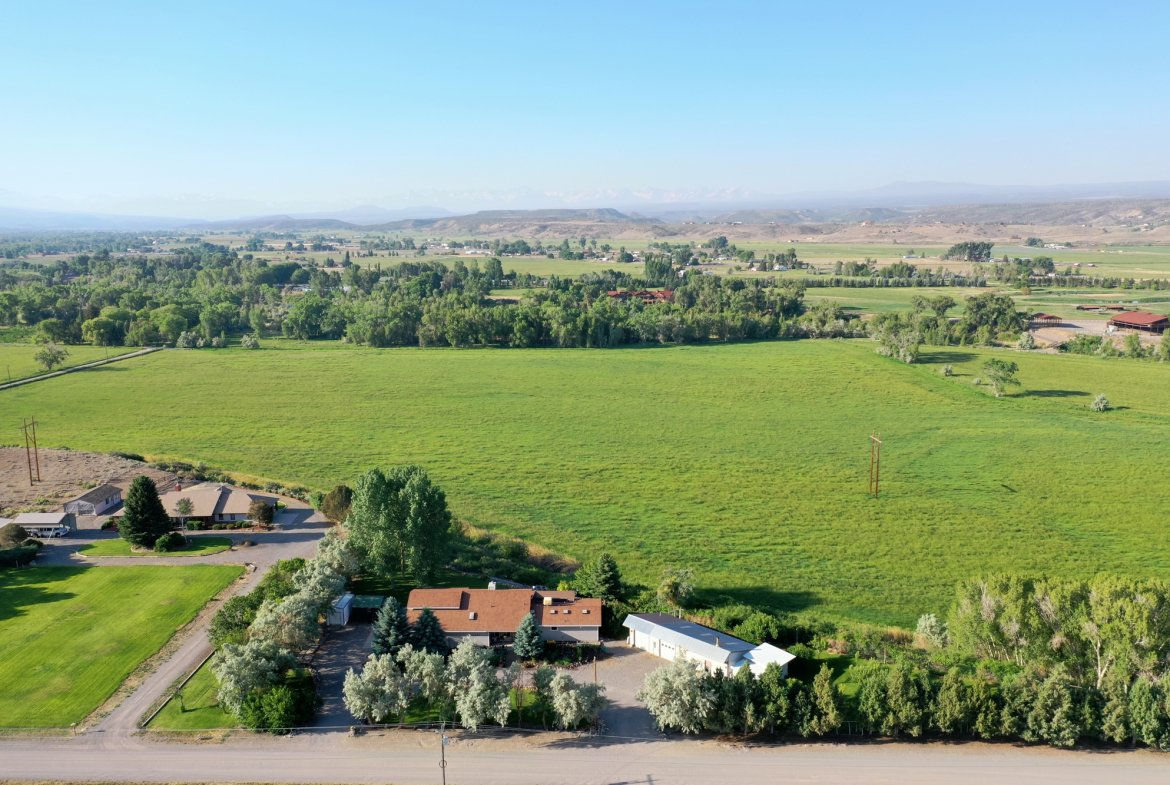 Aerial View of Property Facing South - 17777 6650 Rd Montrose, CO 81403 - Atha Team Country Real Estate