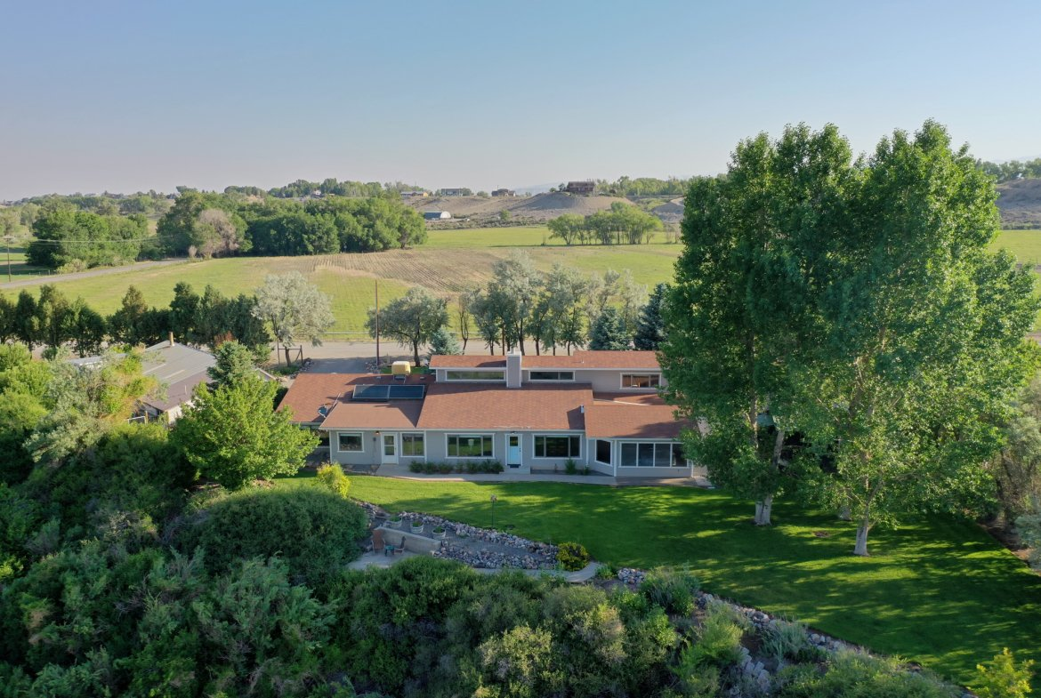 Aerial View of Property Facing North - 17777 6650 Rd Montrose, CO 81403 - Atha Team Country Real Estate