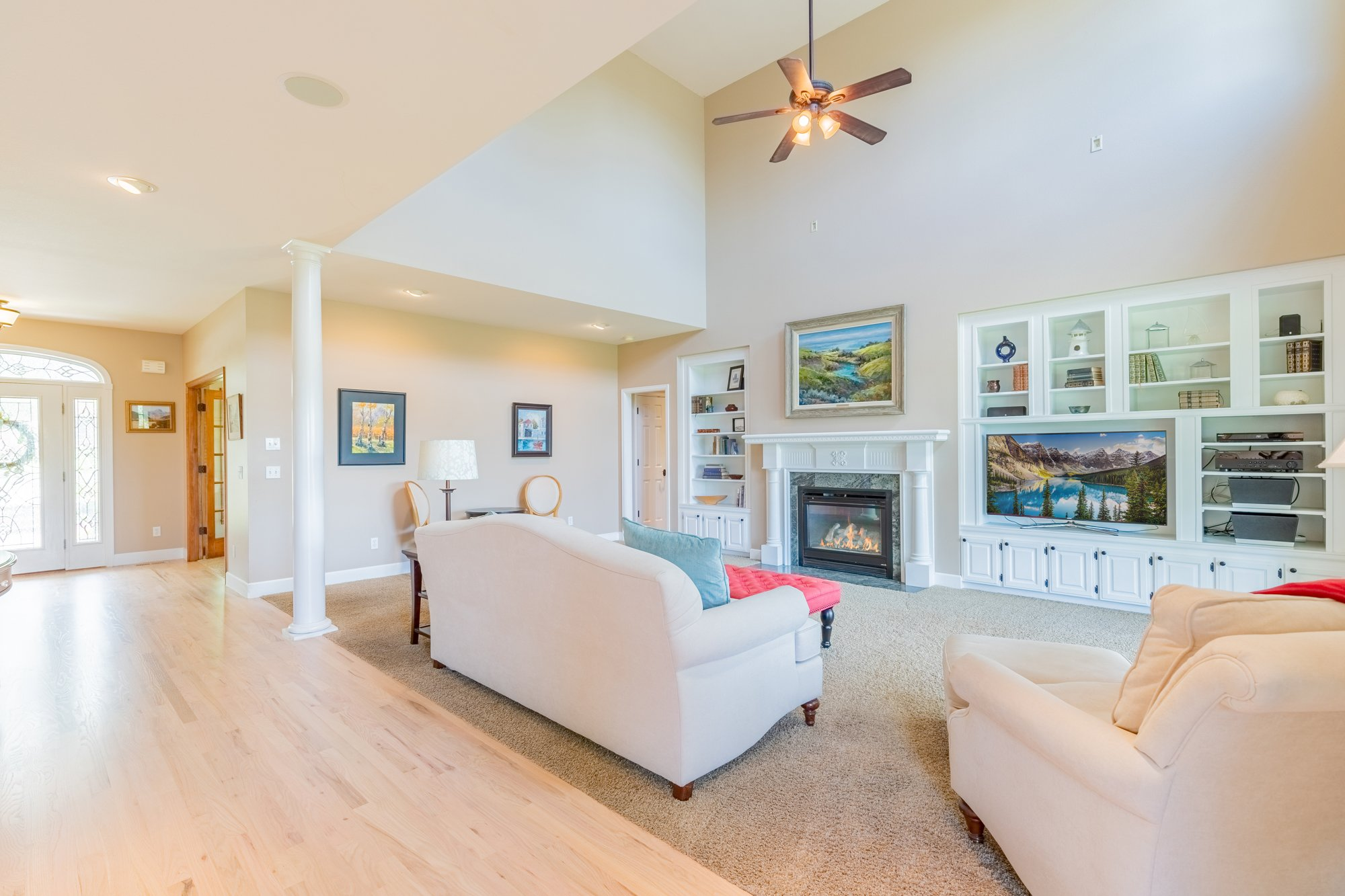Living Room with Ceiling Fan - 2049 Brook Way Montrose, Co 81403 - Atha Team Luxury Real Estate