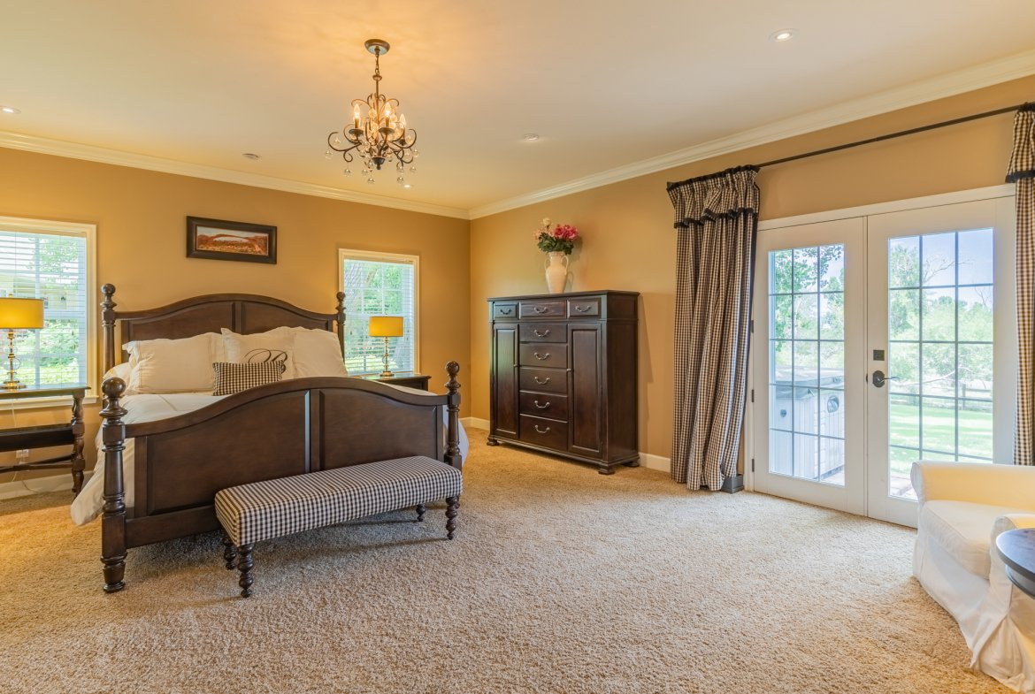 Master Bedroom with Patio Access - 2049 Brook Way Montrose, Co 81403 - Atha Team Luxury Real Estate