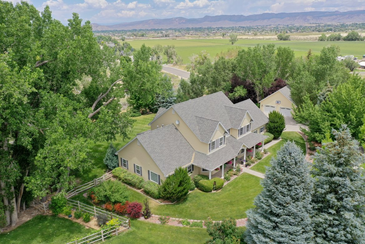 Aerial View of 4 Bedroom Home - 2049 Brook Way Montrose, Co 81403 - Atha Team Luxury Real Estate