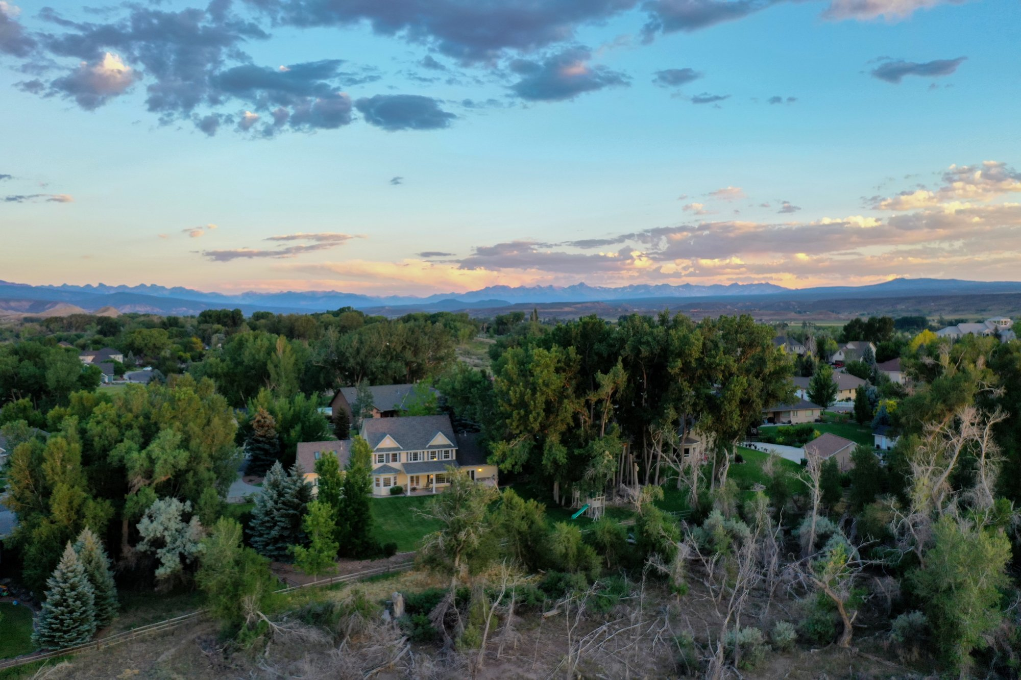 Aerial View of Home looking South - 2049 Brook Way Montrose, Co 81403 - Atha Team Luxury Real Estate